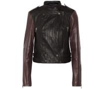Vikki Leather Biker Jacket Schwarz