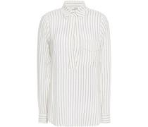 Hemd aus Jacquard aus Einer Seiden-baumwollmischung mit Streifen
