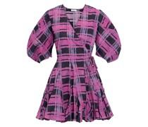 Rosie Printed Cotton Mini Wrap Dress