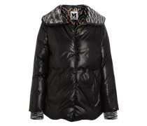 Wool-trimmed quilted shell jacket