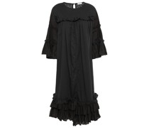 Ruffled Cotton-mousseline Dress