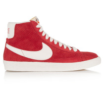 Blazer Perforated Suede High-top Sneakers Rot