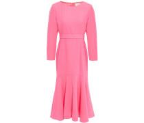 Woman Iris Fluted Wool-crepe Dress Pink