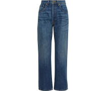 Archer Faded High-rise Straight-leg Jeans