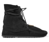 Suede Ankle Boots Schwarz