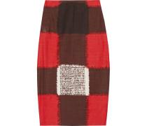 Printed Crepe Pencil Skirt Rot