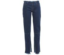 Frayed Mid-rise Slim-leg Jeans