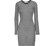 Decker Striped Modal Dress Schwarz
