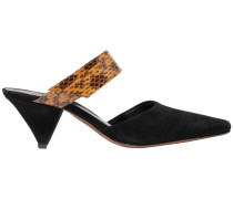 Seven Suede And Elaphe Mules