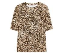 Leopard-print Stretch-jersey T-shirt