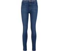 Maria High-rise Skinny Jeans Dunkler Denim