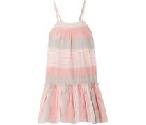Dera Striped Cotton-blend Gauze Mini Dress