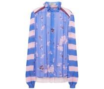 Grace Bedruckte Bluse aus Georgette mit Rüschenbesatz