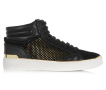 Phoebe Leather And Suede High Top Sneakers Schwarz