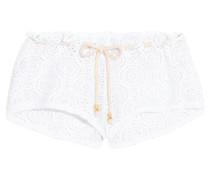 Boho Beautiful Andrea Crocheted Shorts Weiß