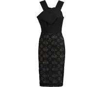 Dawkins Embroidered Cotton-blend Crepe Dress Schwarz