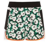 Kristele floral-print crepe shorts