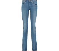 Straight-leg Jeans Mittelblauer Denim
