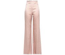 Giovanetti Polka-dot Silk-satin Wide-leg Pants
