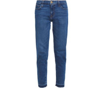 The Unrolled Fling mid-rise straight-leg jeans