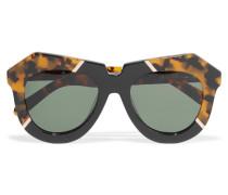 One Splash Acetate Glasses Leoparden-Print