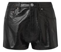 Cracked-leather Shorts