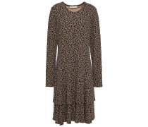 Tiered Printed Jersey Dress