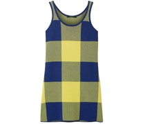 Gingham Jacquard-knit Top