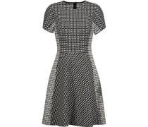 Paneled printed stretch cotton-blend twill dress