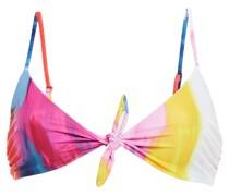 Carla Bedrucktes Bikini-oberteil mit Bindedetail Vorne