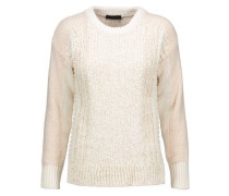 Cotton-blend bouclé sweater