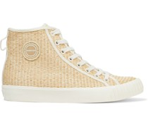 Carleo Leopard-print Canvas Sneakers