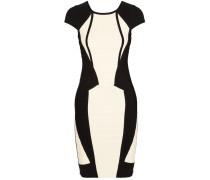 Two-tone Bandage Dress Elfenbein