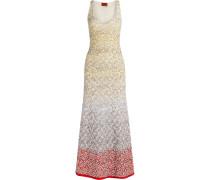 Dégradé Crochet-knit Maxi Dress Gelb