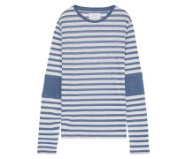 The Hallan Striped Slub Linen-jersey Top