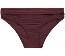 Ribbed Mid-rise Bikini Briefs