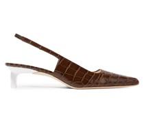 Lois Slingback-pumps aus Leder mit Krokodileffekt