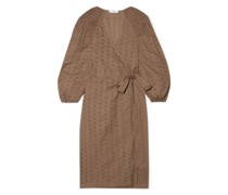 Pink Sands Broderie Anglaise Cotton Wrap Dress