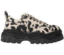 Angel Leopard-print Cotton-canvas Platform Sneakers