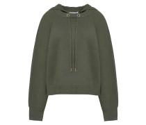 Stretch-knit Hooded Sweater Armeegrün