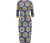 Printed Cotton Midi Dress Mehrfarbig