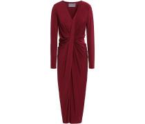 Twist-front Stretch-jersey Midi Dress