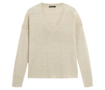 Silk-blend Open-knit Sweater Ecru