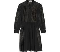 Rock Lace-paneled Crepe Dress Schwarz