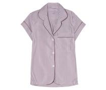 Verbier Striped Swiss Cotton Pajama Top Merlot