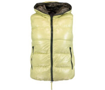 Padded shell down hooded gilet