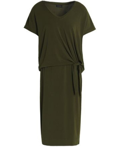 Knotted Jersey Dress Army Green