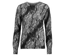 Sloane Instarsia-knit Cashmere Sweater Schwarz