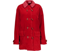 Faux Shearling-lined Cotton-corduroy Coat Rot