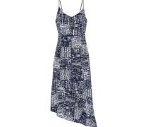 Nicola asymmetric printed voile dress